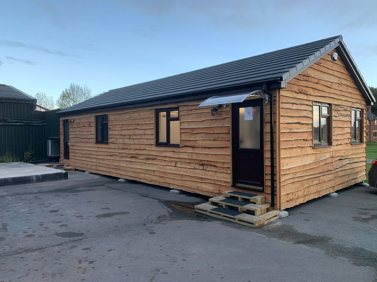 An office lodge cabin we made for one of our customers.